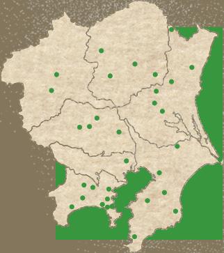 坂東札所は、関東各地に点在し、全行程は約1,300km。